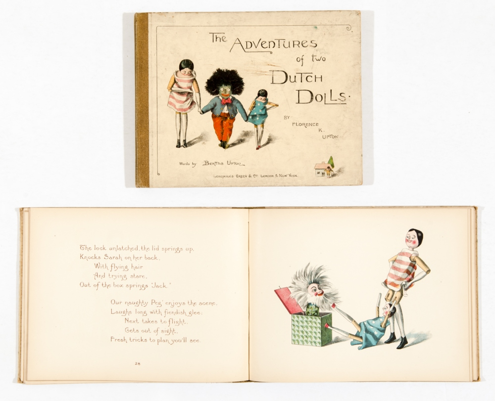 Lot 2 - The Adventures of Two Dutch Dolls by Florence K Upton (1895) Longmans Green & Co. 64 pages. Some