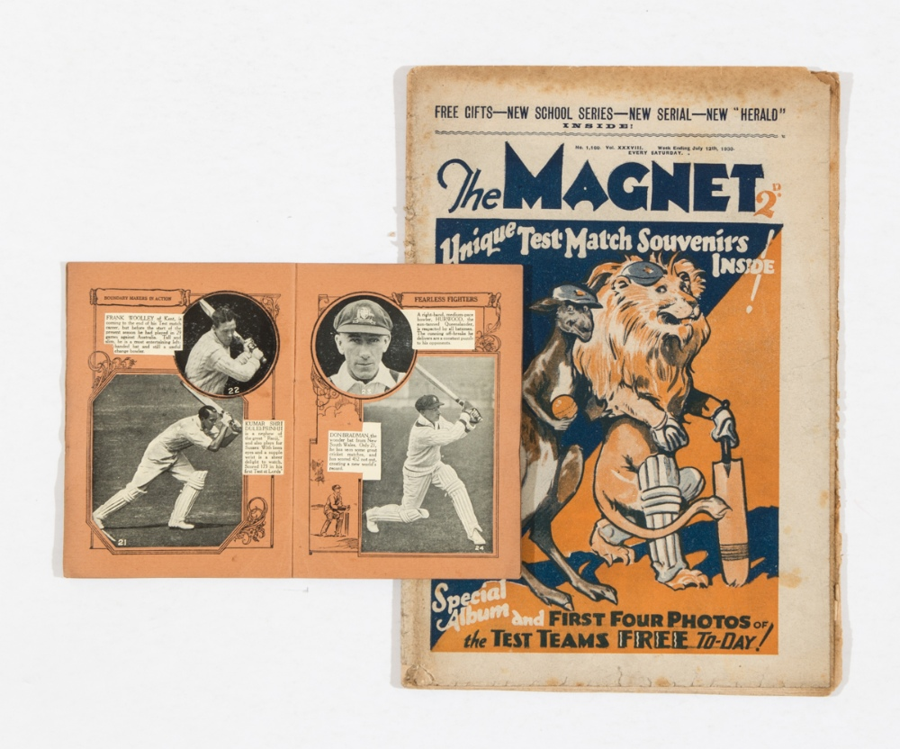 Lot 9 - Magnet 1169 (1930). With Magnet Album of Test Cricketers complete with all 24 photos for the 1930