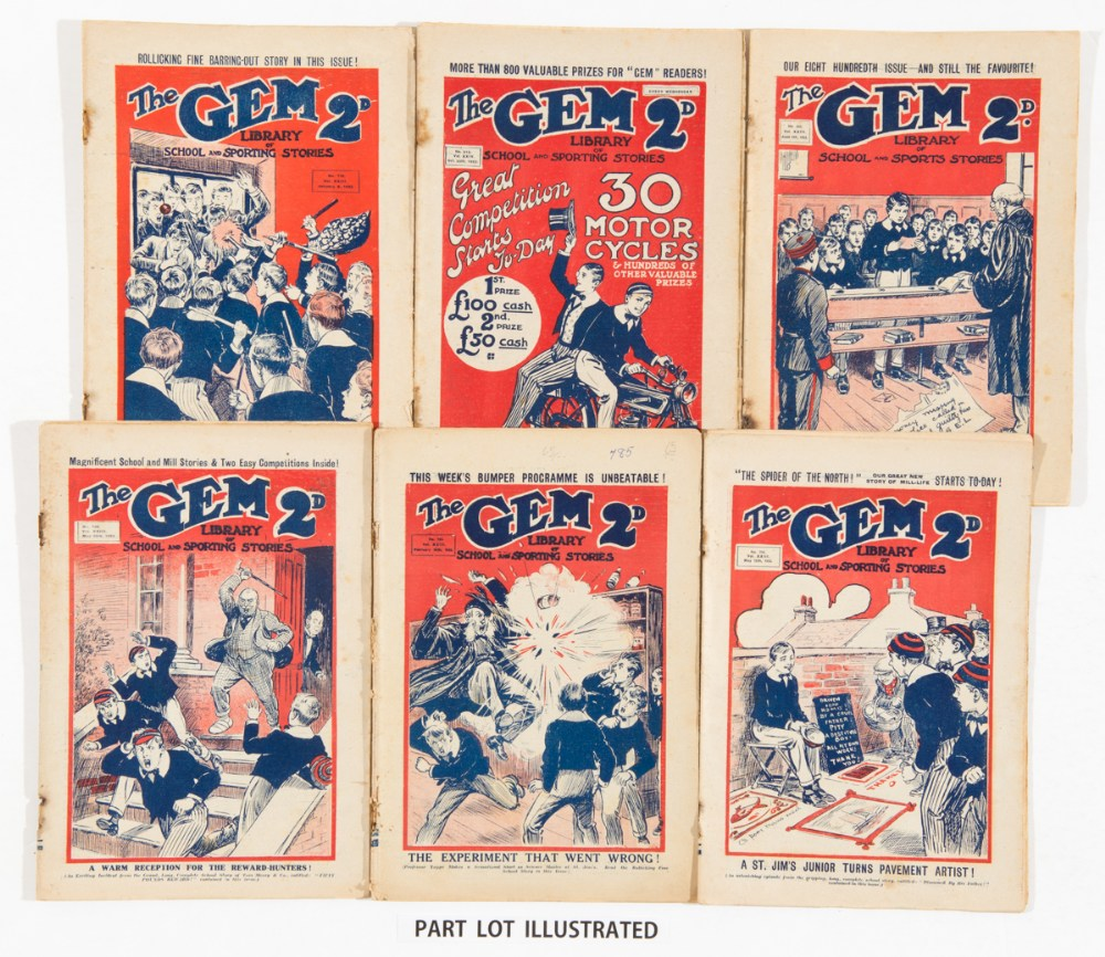 Lot 5 - The Gem (1923) 21 issues between 778-823. Starring Tom Merry, the Spider of The North and the Boys