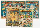 Lot 10 - Mickey Mouse Weekly (1936) 1-47. Starring Mickey, Minnie, Donald and the Disney gang. The first