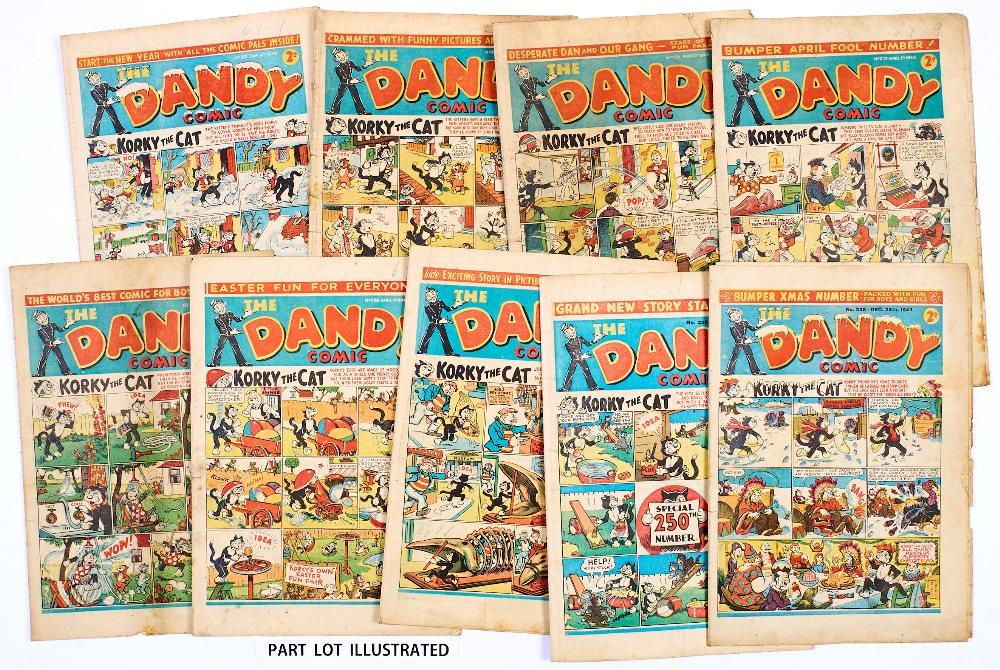 Lot 48 - Dandy (1943) 231-256 Xmas. Near complete year missing No 253. Propaganda war issues including