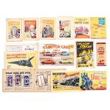 Story Paper Giveaways (1930s-60s). Adventure Thrill Books 1-4, Bright Boys Album of Motor Cars (