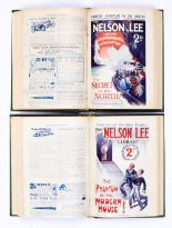 Lot 17 - Nelson Lee Library (Jan-Apr 1927) 36-49 with (1927-28) 61-67, 82-89. In two bound volumes [fn/