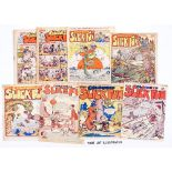 Coloured Slick Fun (1948-51) 37, 40-46, 48, 51-54, 69, 81. Bright covers with some staple rust. A