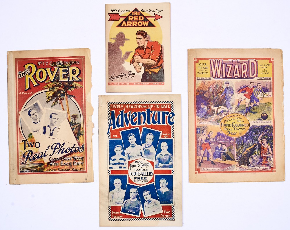 Lot 11 - D.C. Thomson firsts: Adventure 1 (1921), Rover 1 (1922), Wizard 1 (1922), Red Arrow 1 (1932).