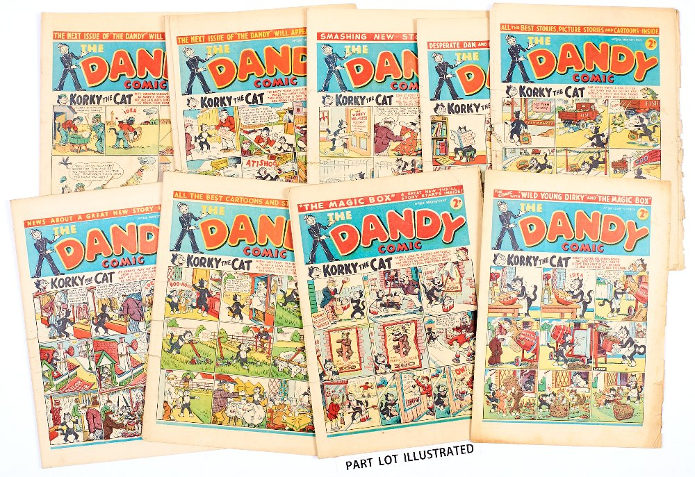 Lot 47 - Dandy (1942) 206-210, 212-219. Propaganda war issues. 'Equip our fighting men with ammunition made