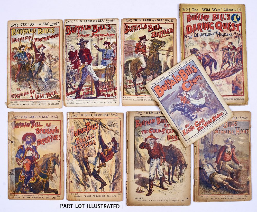 Lot 5 - Buffalo Bill (1890s Aldine O'er Land and Sea Library). 124, 129, 131, 187, 210, 283. With Buffalo
