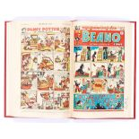 Beano (1949) 352-389. Complete year in bound volume. First Jack Flash by Dudley Watkins, first Pansy