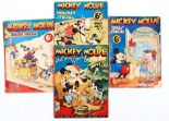 Lot 28 - Mickey Mouse Holiday Specials (1936-39) 1-4. 69 pg specials starring Mickey, Donald and the Disney