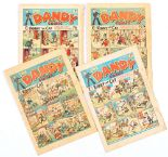 Lot 45 - Dandy (1940) 110, 112, 143, 156. Propaganda war issues [gd-/gd] (4). No Reserve