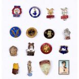 Comics Club badges (1930s-60s). Tiger Tim, Teddy Tail, Bobby Bear, Harold Hare (2 different),