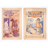 Blue Bird 1 (1922), Mascot 1 (1921). First issue girls' comics by D.C. Thomson. Mascot with