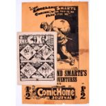 Xmas Comic Home Journal 342 (1901). With Comic Home Journal Poster (c1896). Some tape repair, 28 x