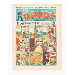 Dandy 53 (1938). First snow-capped Xmas issue with ad for first Dandy Monster Comic. Some small