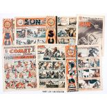 Sun (1947-48) 1, 3-7, 10, 12, 13, 15-17, 19, 20 and 5 issues from 1959. With Comet (1951-52) 151-