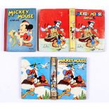 Mickey Mouse Annuals (1941, 1943, 1946). 1941: Some spine wear, cream/light tan pages, 6 with panels