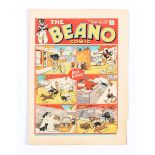 Beano 20 (1938). Bright cover with lower margin piece missing and crumpled lower edge. Clean,