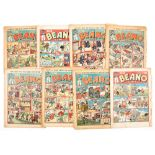 Beano (1940-41) 84, 101, 132-134, 137-139. Propaganda war issues. Well worn complete copies, some