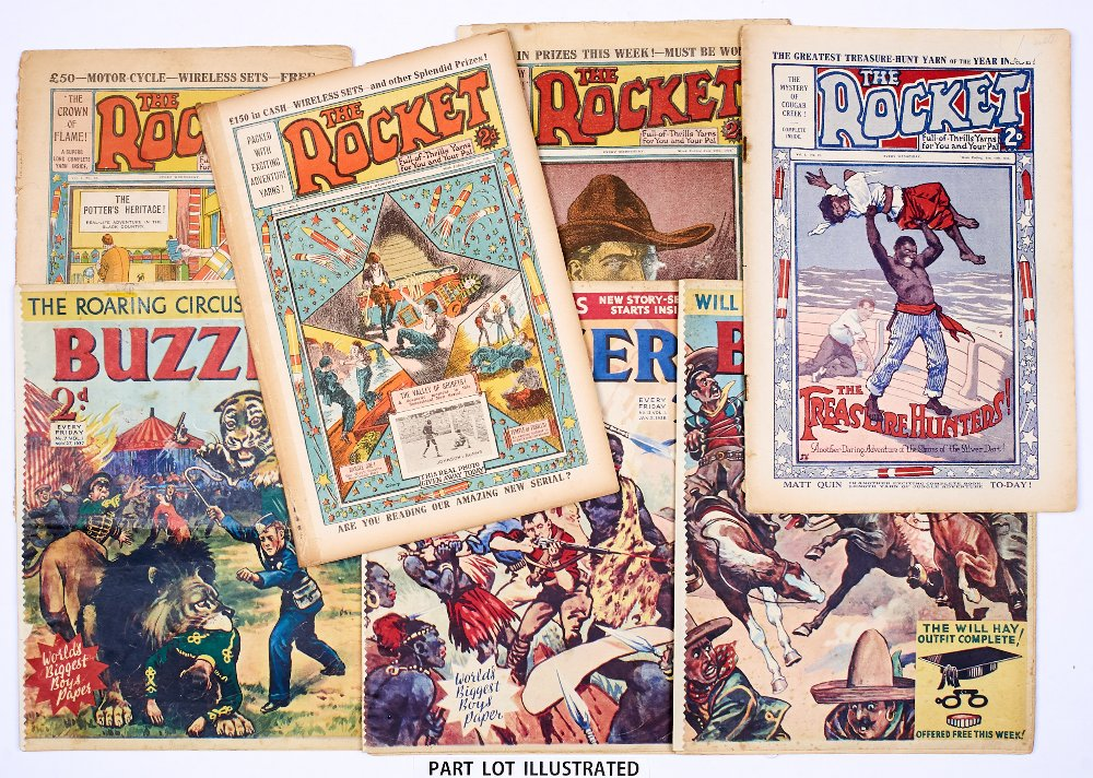 Lot 18 - Rocket (1923-24) 6-10, 13, 24, 31-33, 42, 43, 47, 49, 52, 57, 67. 2 issues with 4 x 2 ins back