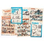 Comet (1949-51) 32 issues between 76-171. With Comet (1958-59) 519-548 complete and 17 assorted