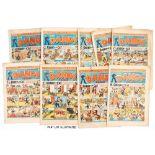 Dandy (1944) 257-282 Xmas. Complete year of fortnightly propaganda war issues. First Black Bob by