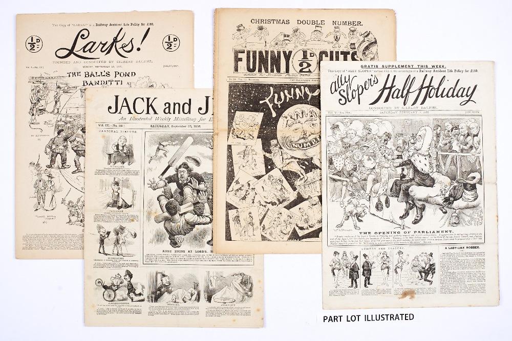 Lot 2 - Ally Sloper's Half-Holiday (1888-91) 198, 202, 388, The Big Budget (1899) 113, 120, Comic Cuts (