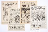 Lot 2 - Ally Sloper's Half-Holiday (1888-91) 198, 202, 388, The Big Budget (1899) 113, 120, Comic Cuts (