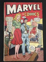 Lot 430 - Marvel Mystery Comics Vol.1 No.87 1948 issue, Golden Age, features Captain America and The Human