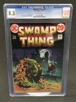 Lot 432 - DC Swamp Thing Volume 1 No.4 1973 comic, CGC graded 8.5.