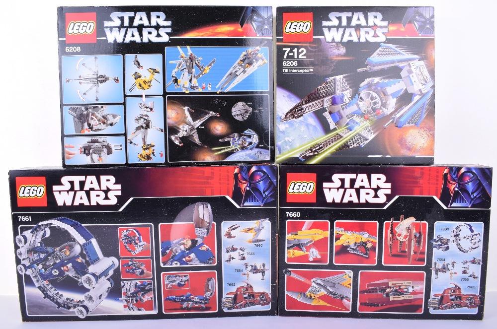 Four Boxed Lego Star Wars Sets6206 Tie Interceptor 2006 Issue 6208