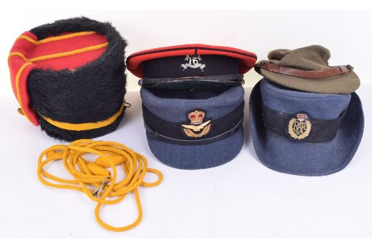 Selection of Military Headdress, including Royal Horse