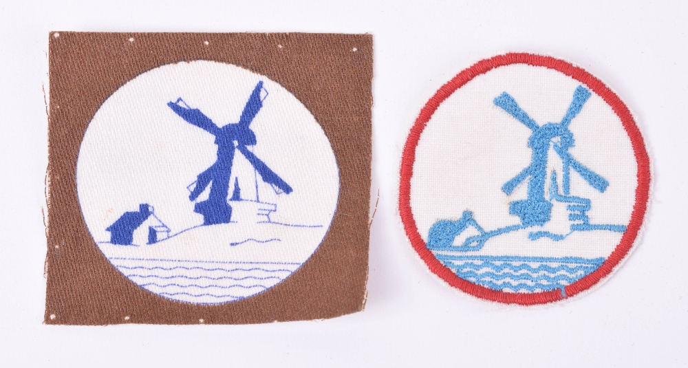 Lot 98 - 2x Variations of Netherlands District Cloth Formation Signs