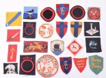 Lot 99 - Selection of British Cloth Formation Signs