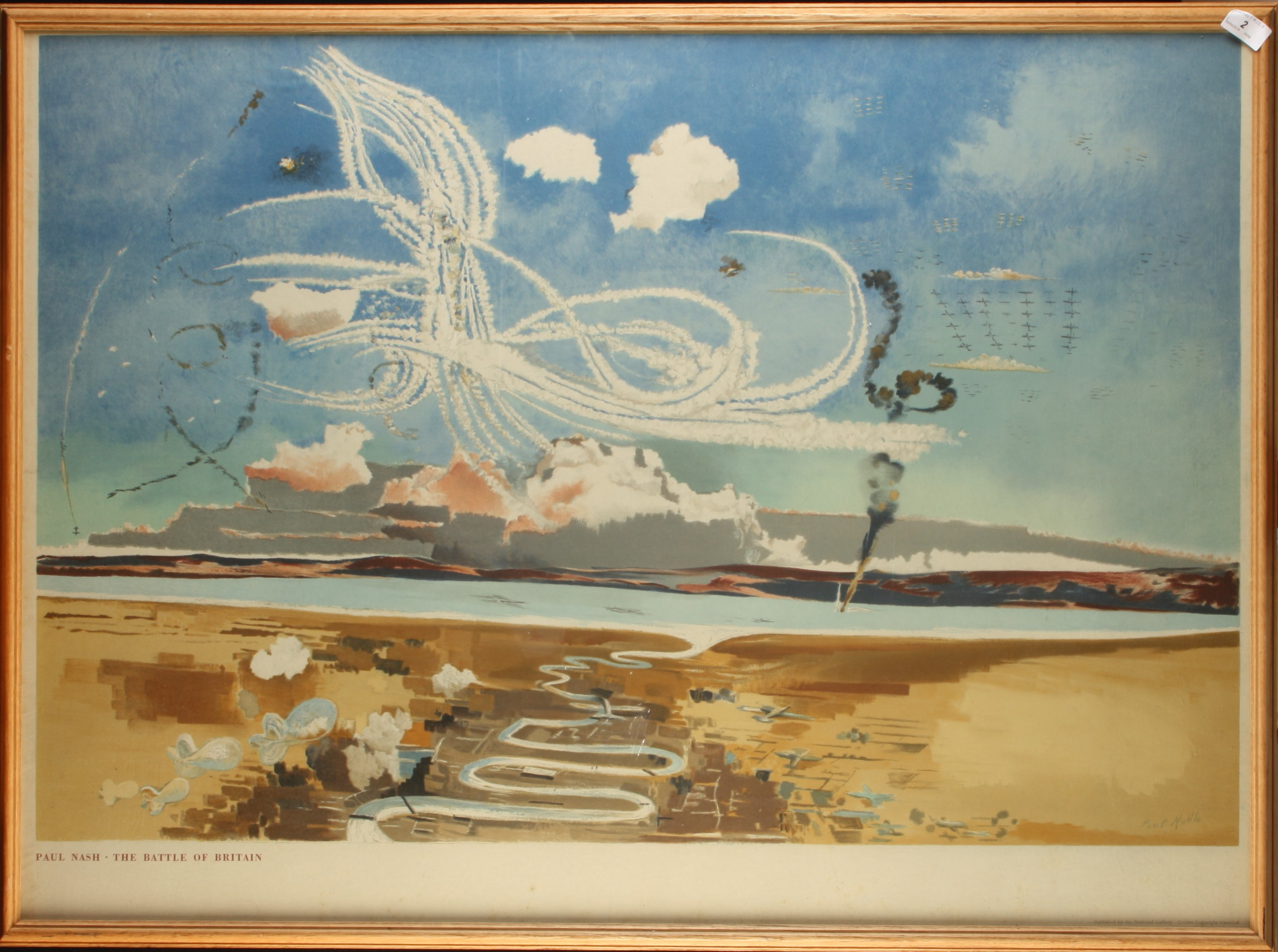 Lot 2 - Paul NASH The Battle of Britain (Postan L23) Lithograph Published by National Gallery for Ministry