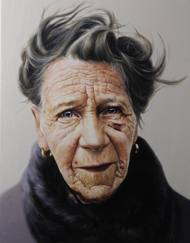 "Lot 4 - Patrick Redmond MARTHA Oil on canvas, 20"" x 10"" (50.8 x 40.6 cm), signed verso"