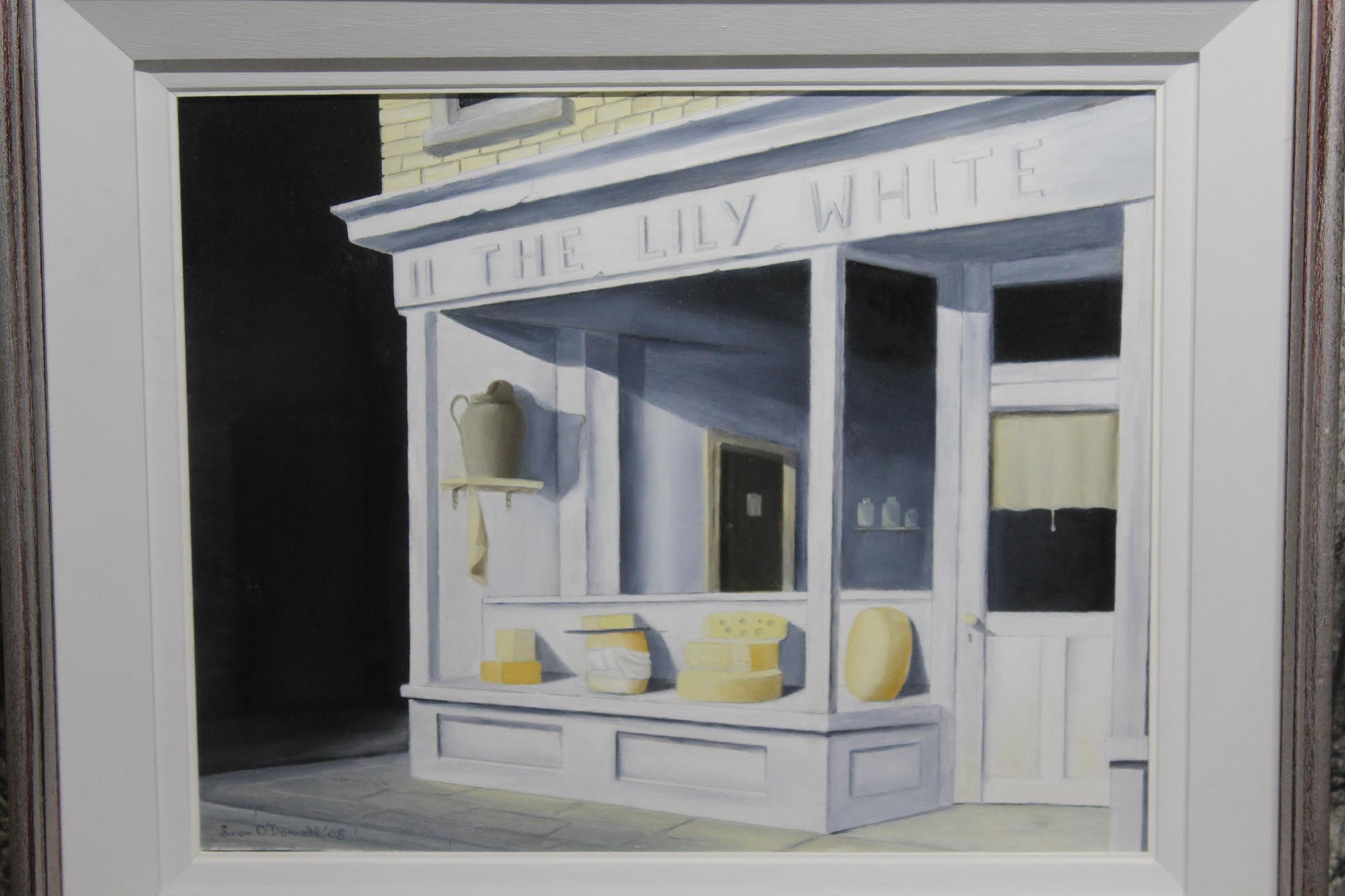 "Lot 15 - Simon O'Donnell, Contemporary THE LILY WHITE DAIRY Oil on board, 12"" x 15"" (30.5 x 38 cm), signed"