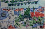 "Lot 3 - Michael Cullen HOLIDAY VILLAGE, NERJA, MALAGA Watercolour, 11"" x 17"", (28 x 43.1 cm), signed,"