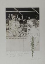 "Lot 34 - Micheal Farrell 1940-2000 L'AUTRE SAVOIR 1983, Lithograph, 20 3/4"" x 30"" (53 x 76 cm), signed and"