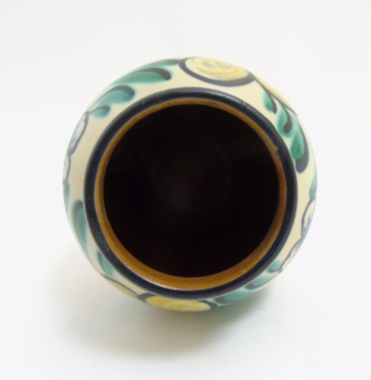 Lot 59 - Scandinavian Studio Pottery: A Swedish vase by Ekeby, Uppsala, Sweden, makers mark to base,