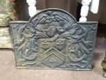 Lot 19 - Large cast iron fire back CONDITION: Please Note - we do not make reference to the