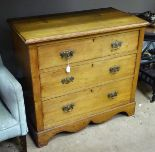 Lot 5 - A circa 1900 chest of drawers,