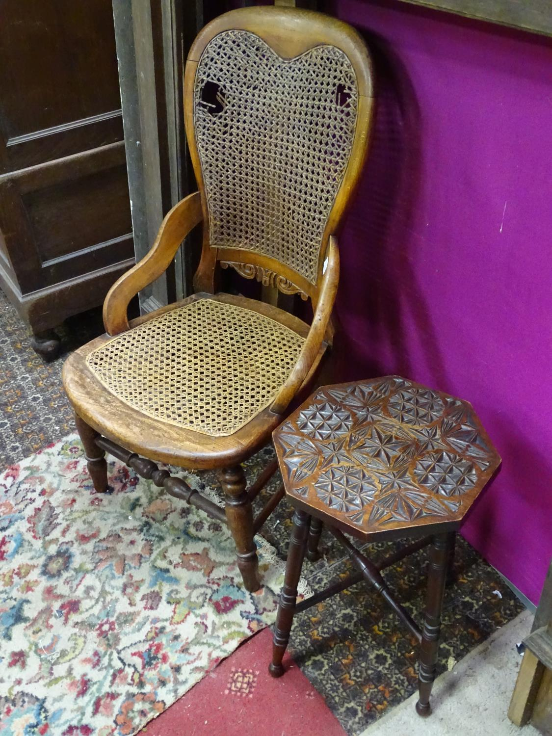 Lot 53 - A chair together with an occasional table (2) CONDITION: Please Note - we do not