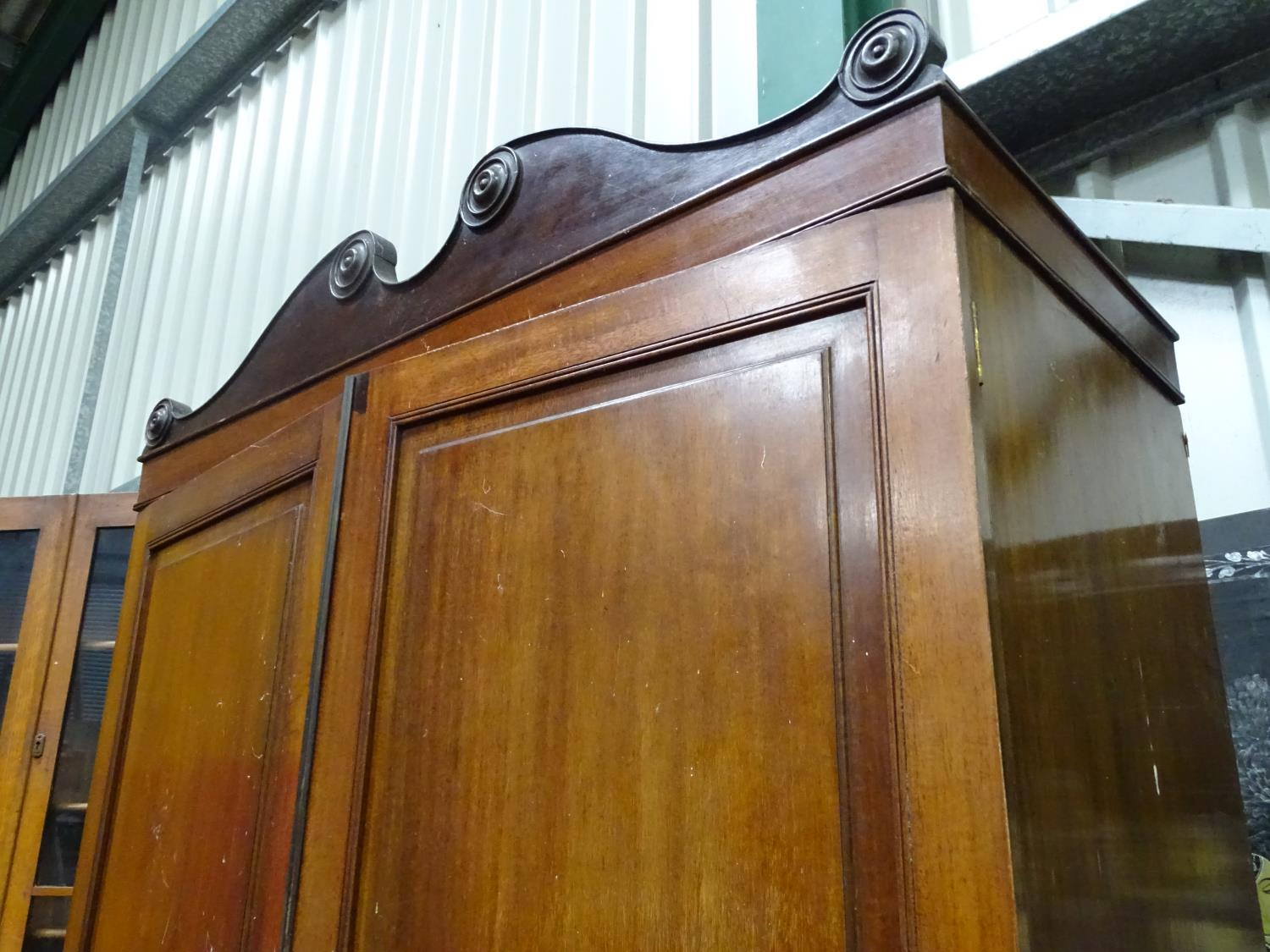 Lot 57 - An Edwardian wardrobe CONDITION: Please Note - we do not make reference to the