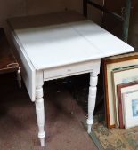 Lot 18 - A white painted Pembroke table CONDITION: Please Note - we do not make reference
