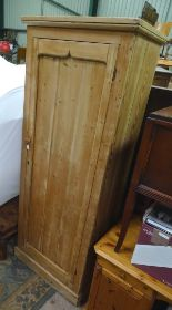 Lot 28 - A large pine housekeepers cupboard with 3 shelves CONDITION: Please Note - we do