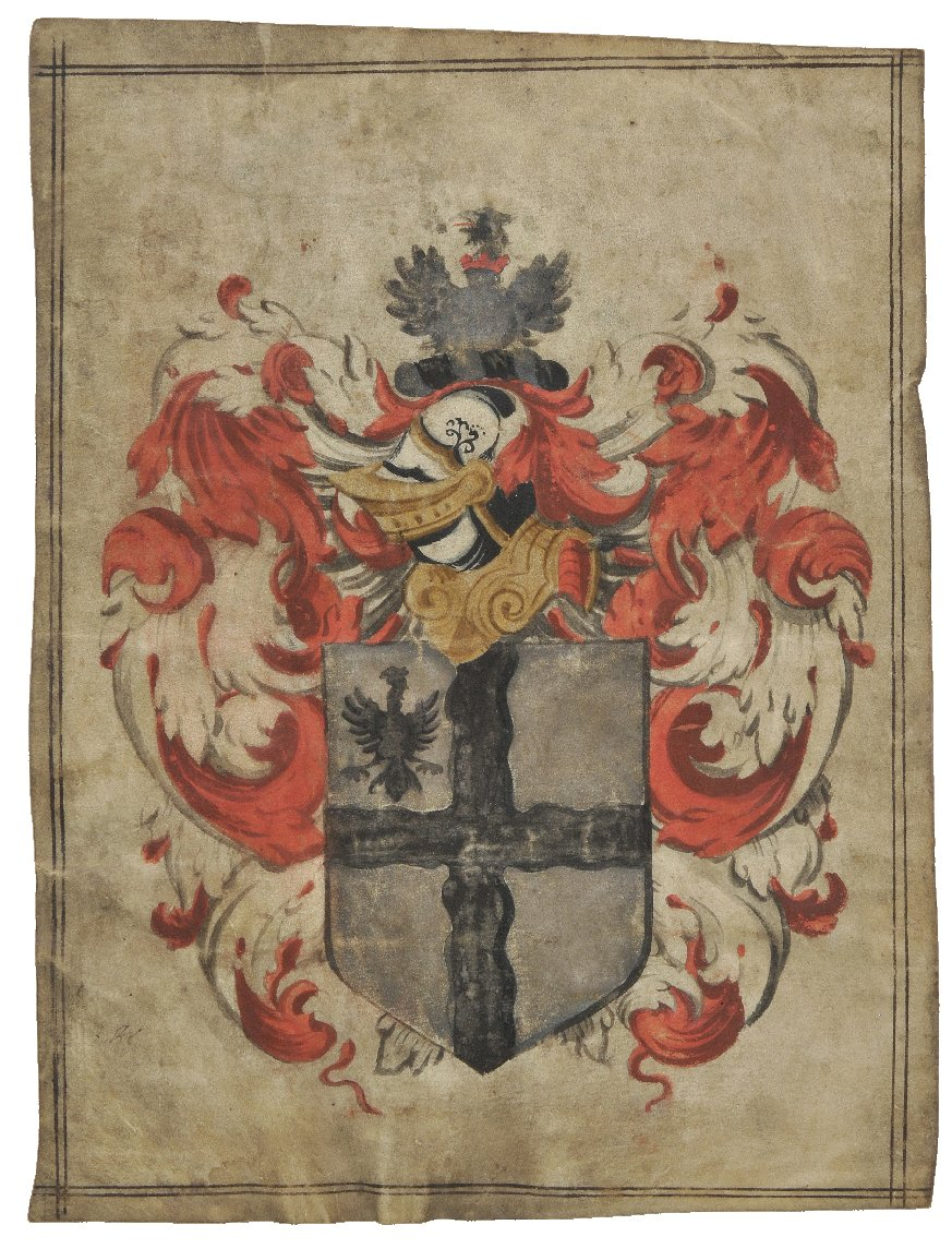Lot 265 - *Armorial. An armorial achievement on vellum of Henry Webb of Harrow on the Hill in the county of