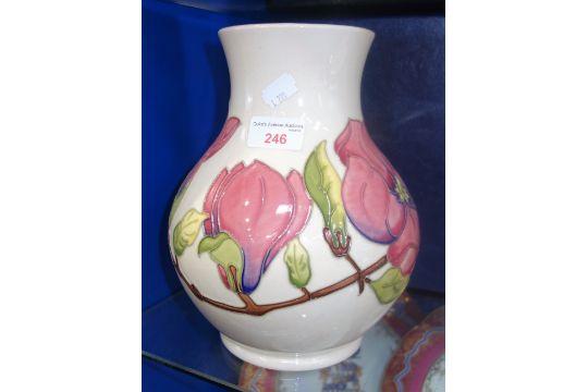 Moorcroft A Cream Ground Quotmagnoliaquot Vase 7594 24cm