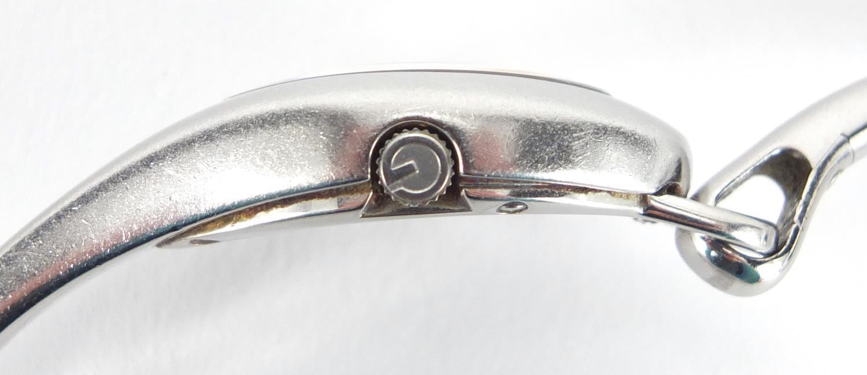 d8e180a1224 ... Lot 2435 - Ladies Gucci Horsebit stainless steel wristwatch
