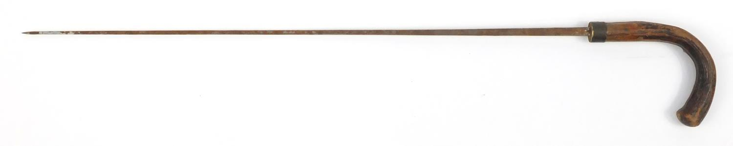 Lot 27 - Naturalistic swordstick by Molf of Birmingham, 92cm in length :For Further Condition Reports