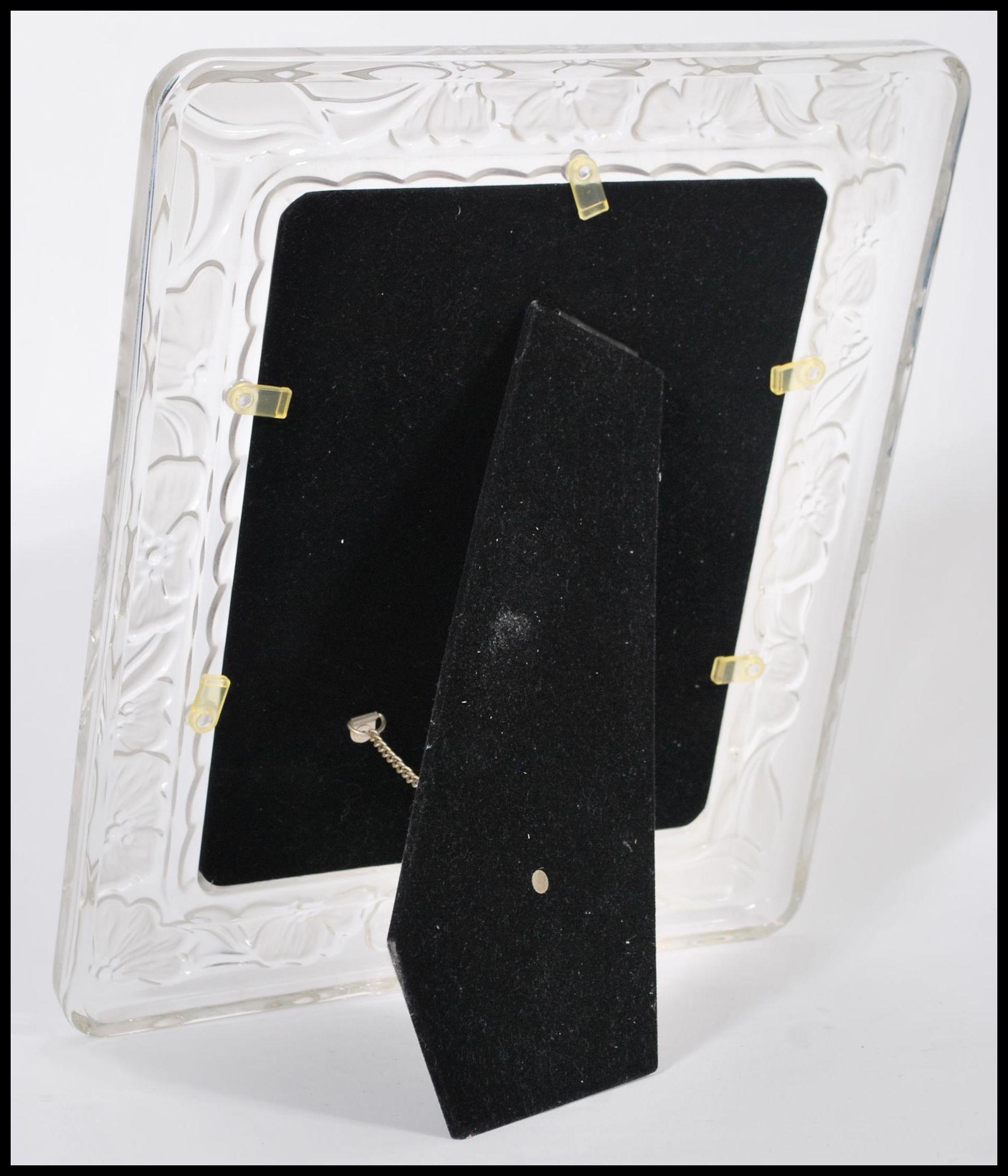 """Lot 9 - A Waterford cut crystal glass picture frame 8"""" by 10"""" example complete in original box appearing"""